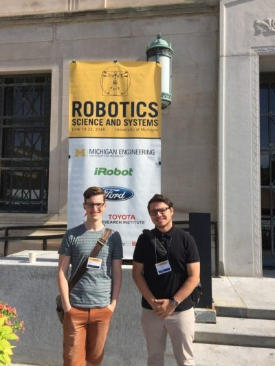 Lee and Valentin at RSS 2016.